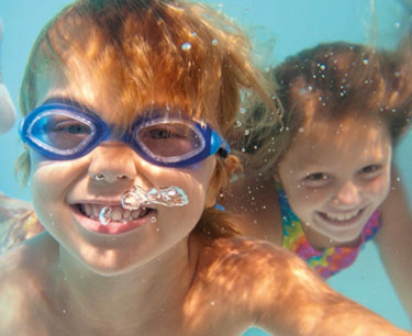 Inflatables in the Dolphin Pool
