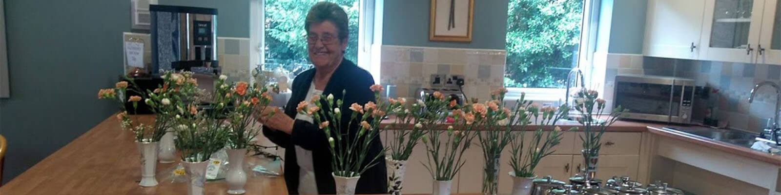 Flower arranging at Branksome hall drive