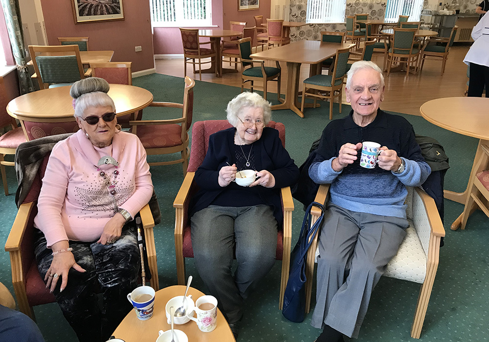 residents enjoying a cup of tea