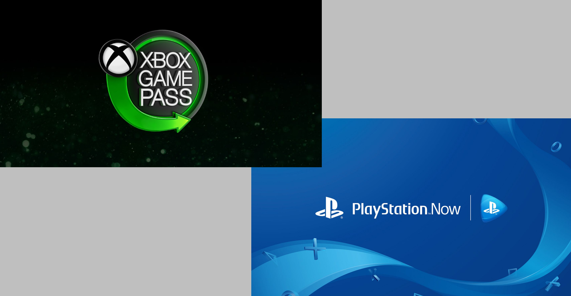 Xbox Game Pass and PS Now