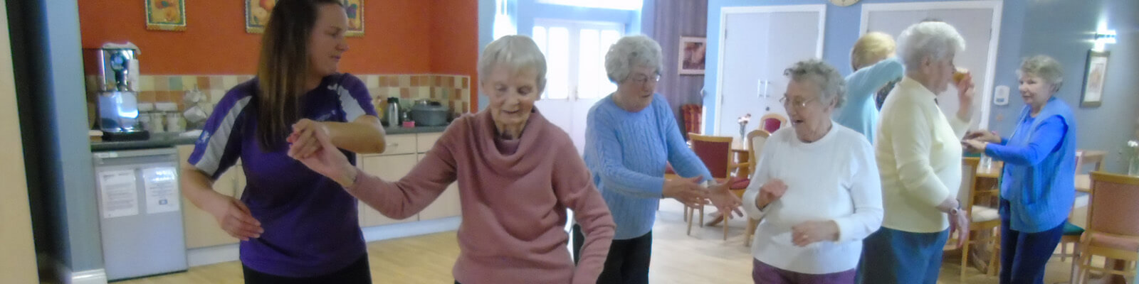 residents taking part in a dance