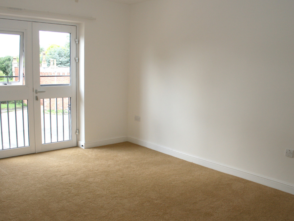 a empty flat at Linden Court