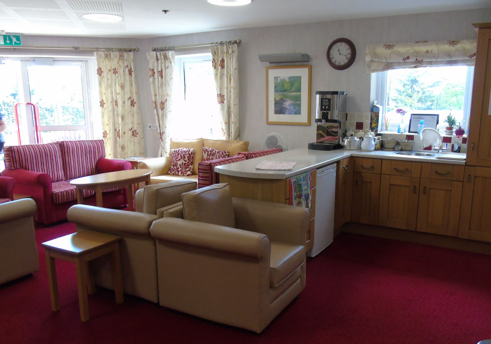 the coffee bar at Dinsdale Court