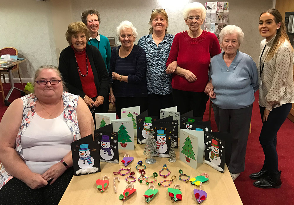 the crafts group at Dinsdale Court