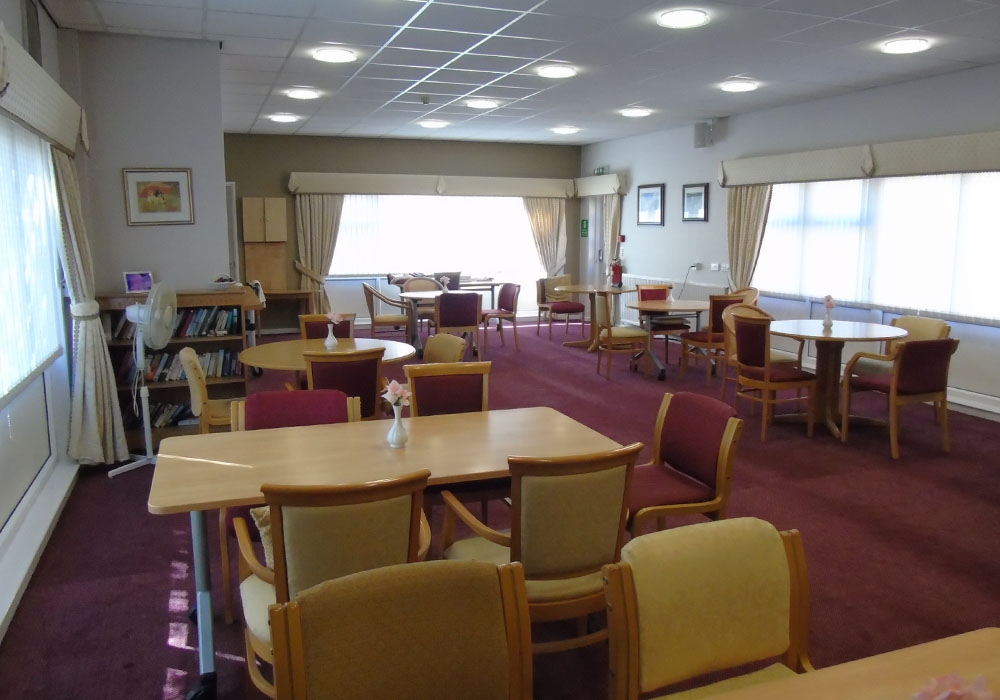 the inside of the community centre