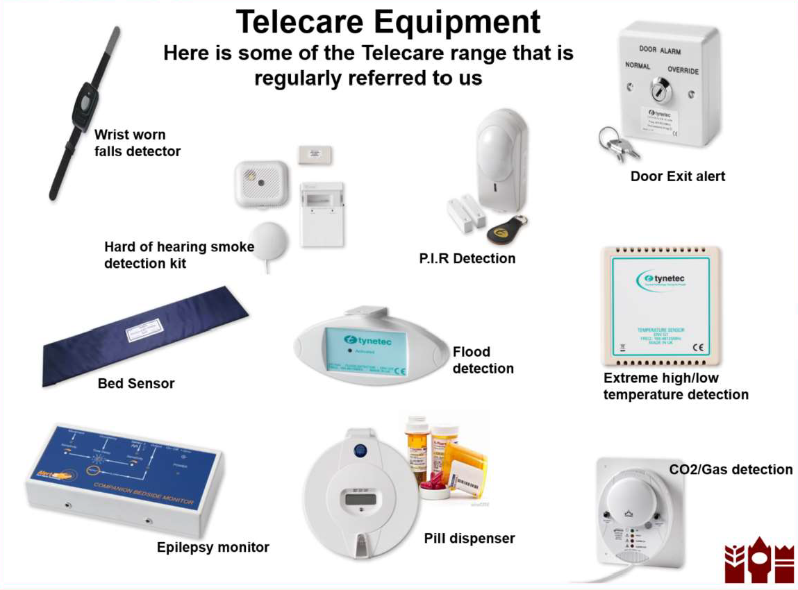 examples of Telecare equipment