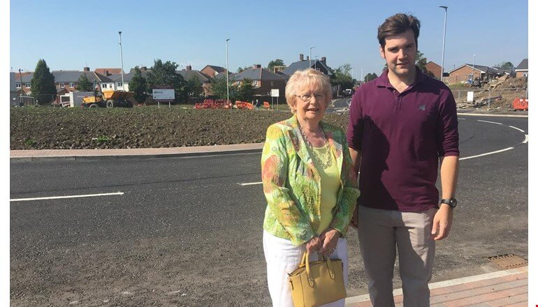 Works on Haughton Road roundabout project reach milestone