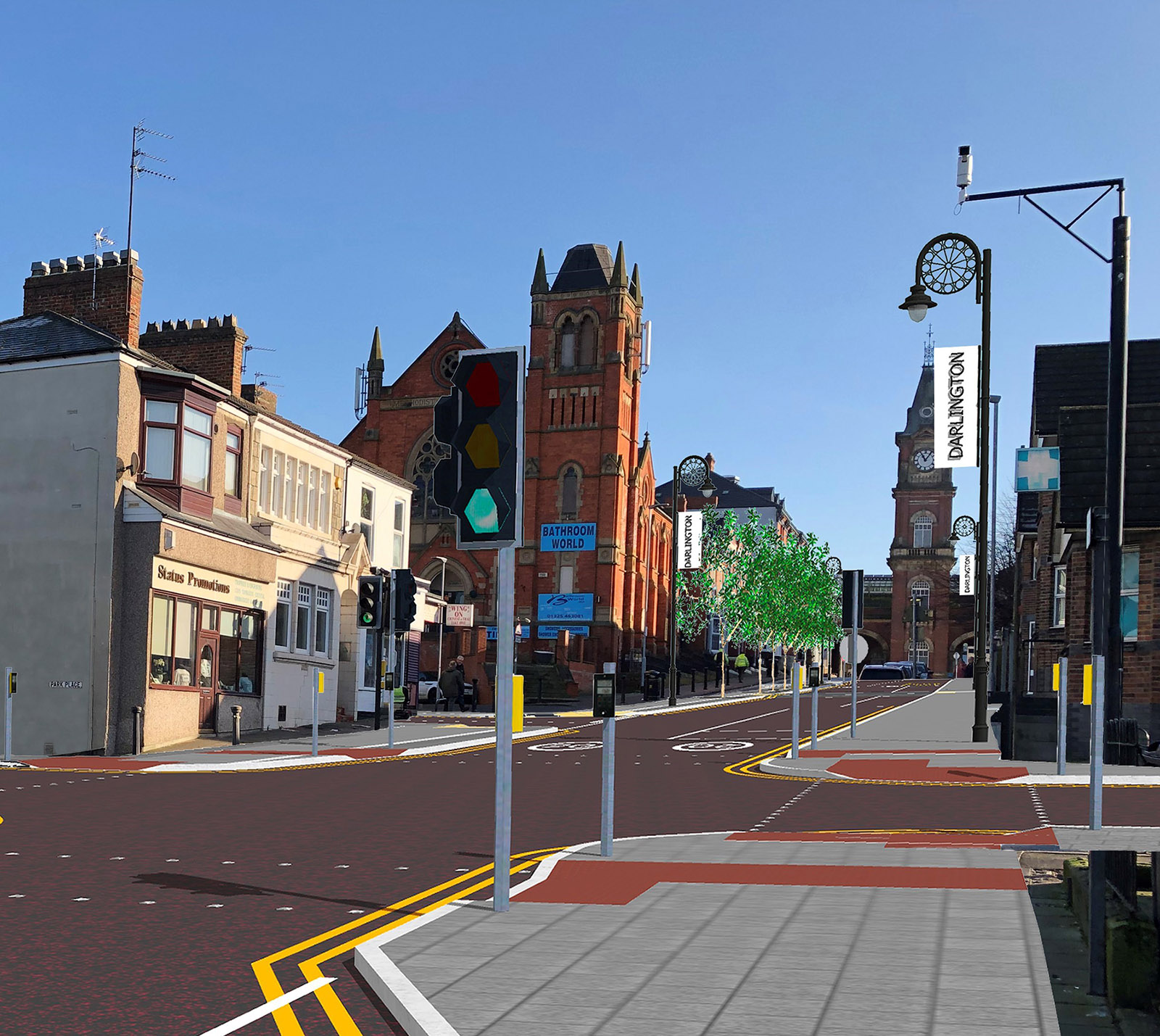 Artists impression of Victoria road after refurbishment