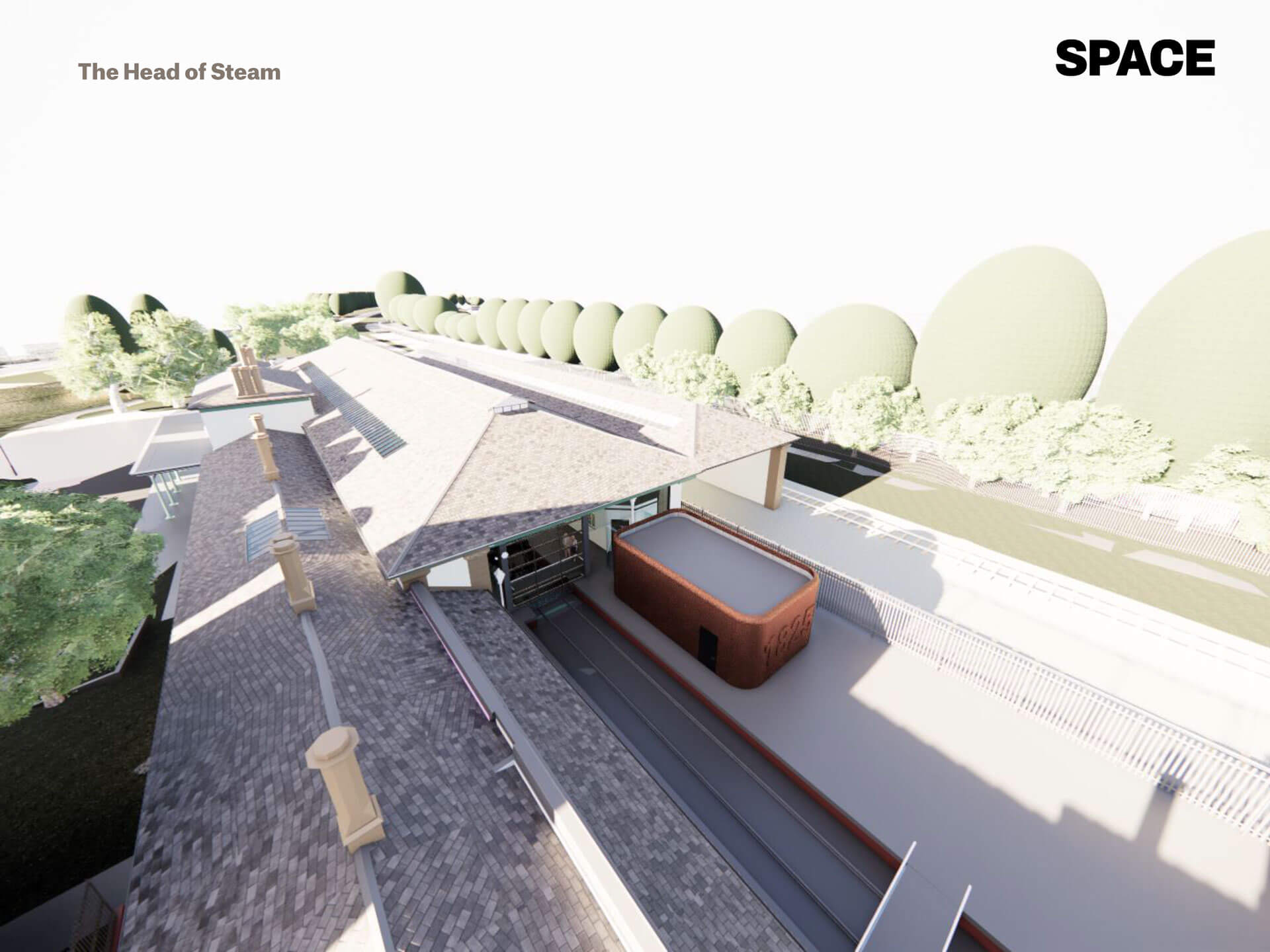 Platform, artist areal render