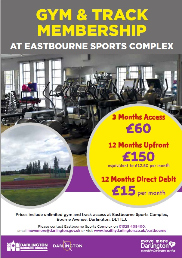 Eastbourne gym membership leaflet, all details can be read below