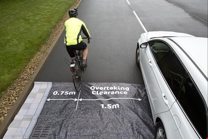 Promotional image for Drivers urged to give cyclists space in new road safety campaign
