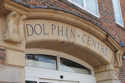the Dolphin centre entrance arch