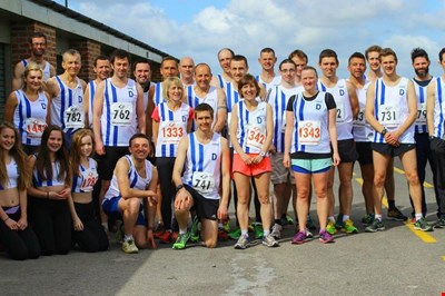 members of Darlington Harriers running club