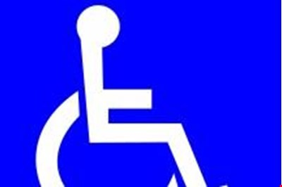 a graphic of a wheelchair user