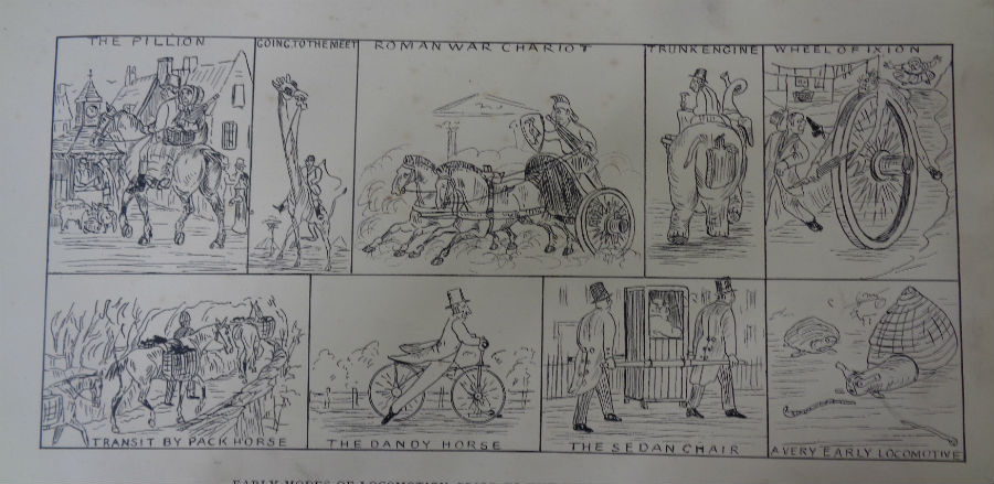 Jubilee illustration showing illustrations of modes of transportation before the railways