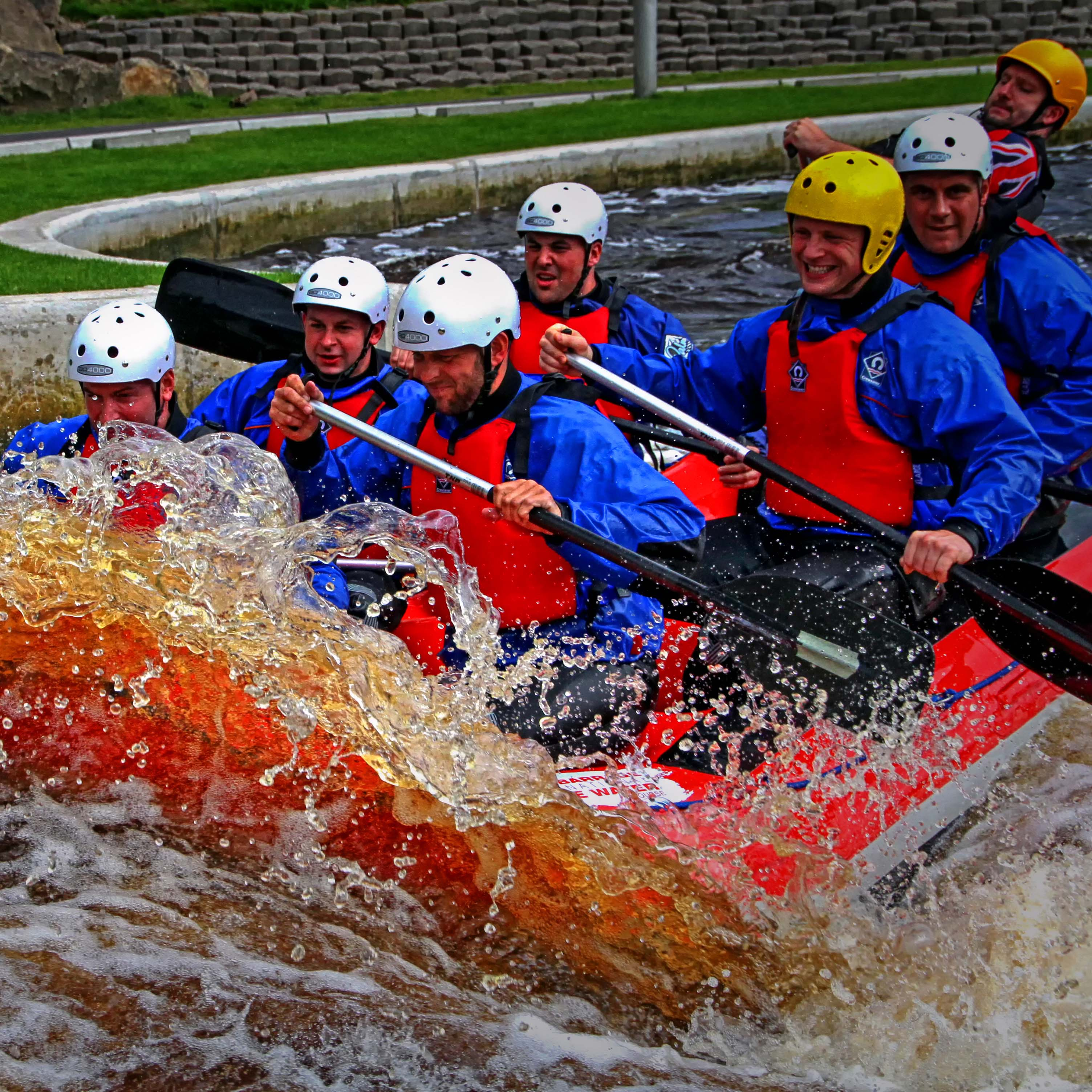Rafting at tees barrage